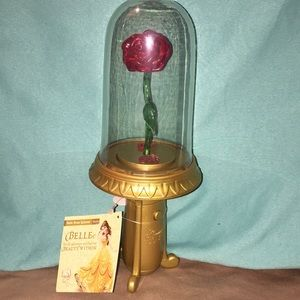 🆕 Beauty and the Beast Light Up Rose Spinner 🌹